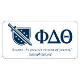 Super Large Decal-Shield/Phi Delta Theta Symbols Recruitment, 24in W
