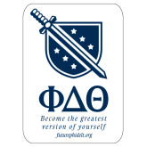 Super Large Decal-Stacked Shield/Phi Delta Theta Symbols Recruitment, 24in H