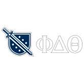 Super Large Decal-Phi Delta Theta Symbols, 24in W