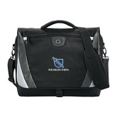 Slope Compu Black/Grey Messenger Bag-Stacked Shield/Phi Delta Theta