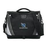 Slope Compu Black/Grey Messenger Bag-Stacked Shield/Phi Delta Theta