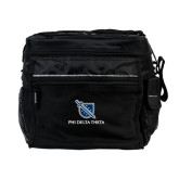 All Sport Black Cooler-Stacked Shield/Phi Delta Theta