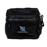 All Sport Black Cooler-Stacked Shield/Phi Delta Theta