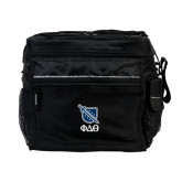 All Sport Black Cooler-Stacked Shield/Phi Delta Theta Symbols
