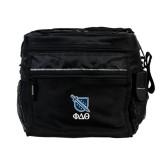 All Sport Black Cooler-Stacked Shield/Phi Delta Theta Symbols