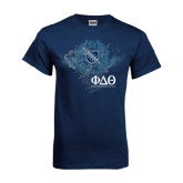 Navy T Shirt-Winged Wreath