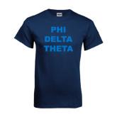 Navy T Shirt-Phi Delta Theta Stacked