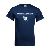 Navy T Shirt-To Our Sword and Shield Well Loyal Be
