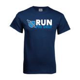 Navy T Shirt-Run Phi Delt