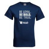 Navy T Shirt-Be Loyal Be Bold Be True