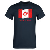 Navy T Shirt-Phi Delta Theta Canadian Flag Design