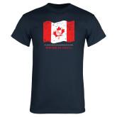 Navy T Shirt-Phi Delta Theta Canadian Flag Design