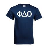 Navy T Shirt-Phi Delta Theta Symbols