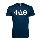 Next Level SoftStyle Navy T Shirt-Phi Delta Theta Symbols