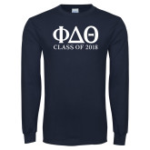 Navy Long Sleeve T Shirt-Class of Design