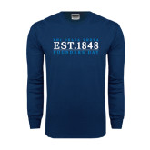 Navy Long Sleeve T Shirt-Founders Day 1848