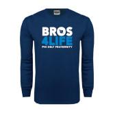 Navy Long Sleeve T Shirt-Bros 4 Life