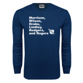 Navy Long Sleeve T Shirt-Founders