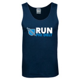 Navy Tank Top-Run Phi Delt
