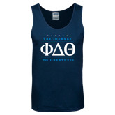 Navy Tank Top-The Journey To Greatness