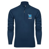 Syntrel Navy Interlock 1/4 Zip-Stacked Shield/Phi Delta Theta Symbols