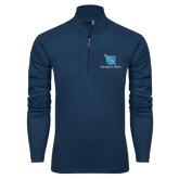 Syntrel Navy Interlock 1/4 Zip-Stacked Shield/Phi Delta Theta
