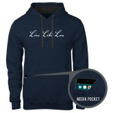 Contemporary Sofspun Navy Heather Hoodie-LLL Signature
