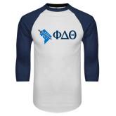 White/Navy Raglan Baseball T-Shirt-Washington D.C.