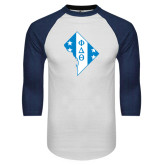 White/Navy Raglan Baseball T-Shirt-Washington D.C.