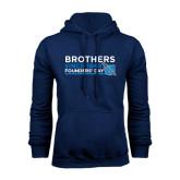 Navy Fleece Hoodie-Brothers/Founders Day