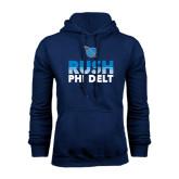 Navy Fleece Hoodie-RUSH Phi Delt