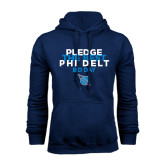 Navy Fleece Hoodie-Pledge The Best