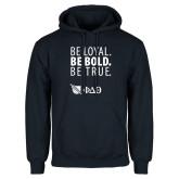 Navy Fleece Hoodie-Be Loyal Be Bold Be True