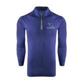 Under Armour Navy Tech 1/4 Zip Performance Shirt-Stacked Shield/Phi Delta Theta