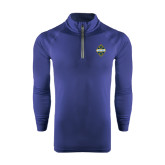 Under Armour Navy Tech 1/4 Zip Performance Shirt-True Blue