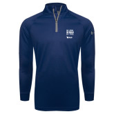 Under Armour Navy Tech 1/4 Zip Performance Shirt-Be Loyal Be Bold Be True