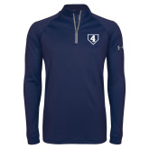Under Armour Navy Tech 1/4 Zip Performance Shirt-LLL Base