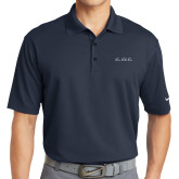 Nike Golf Dri Fit Navy Micro Pique Polo-LLL Signature