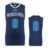 Replica Navy Adult Basketball Jersey-Phi Delta Theta #0