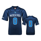 Replica Navy Adult Football Jersey-Phi Delta Theta