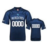 Replica Navy Adult Football Jersey-Phi Delta Theta Bond Number