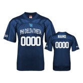 Replica Navy Adult Football Jersey-Phi Delta Theta Name and Bond Number