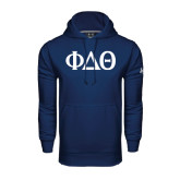 Under Armour Navy Performance Sweats Team Hoodie-Phi Delta Theta Symbols