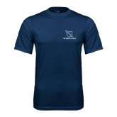 Performance Navy Tee-Stacked Shield/Phi Delta Theta