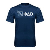 Performance Navy Tee-Shield/Phi Delta Theta Symbols