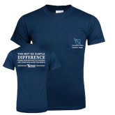 Navy T-Shirt with Pocket-Customized Recruitment Subtle Difference