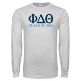 White Long Sleeve T Shirt-Class of Design