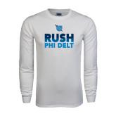White Long Sleeve T Shirt-RUSH Phi Delt