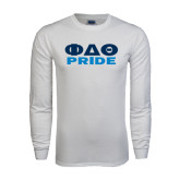 White Long Sleeve T Shirt-Phi Delta Theta Pride