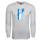 White Long Sleeve T Shirt-Vermont